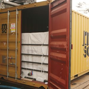 Positionierung des Containers